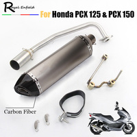 PCX 125 150 Motorcycle Exhaust Full System Modified Moto Muffler DB Killer Front Mid Link Pipe