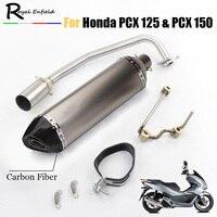 PCX 125 150 мотоцикл выхлоп полный Системы изменение мото глушитель дБ убийца спереди MID трубы ссылку слипоны для Honda pcx125 pcx150