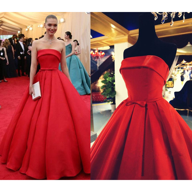 Arizona Muse Red Carpet Celebrity Dresses Strapless Elegant Met Gala Tapetes De Quarto Gowns Ball Gown Formal In Inspired