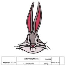 Cartoon Rabbit Patch DIY Sewing Garments Appliques Sew On Coat Jeans Bags Badge 2 pcs/lot