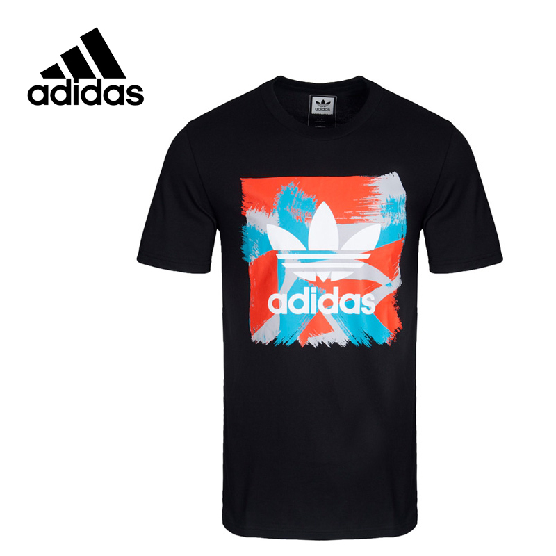 Adidas Original New Arrival Official Originals Men's kintted T-shirts short sleeve Sportswear BJ8718 original adidas originals men s t shirts short sleeve sportswear