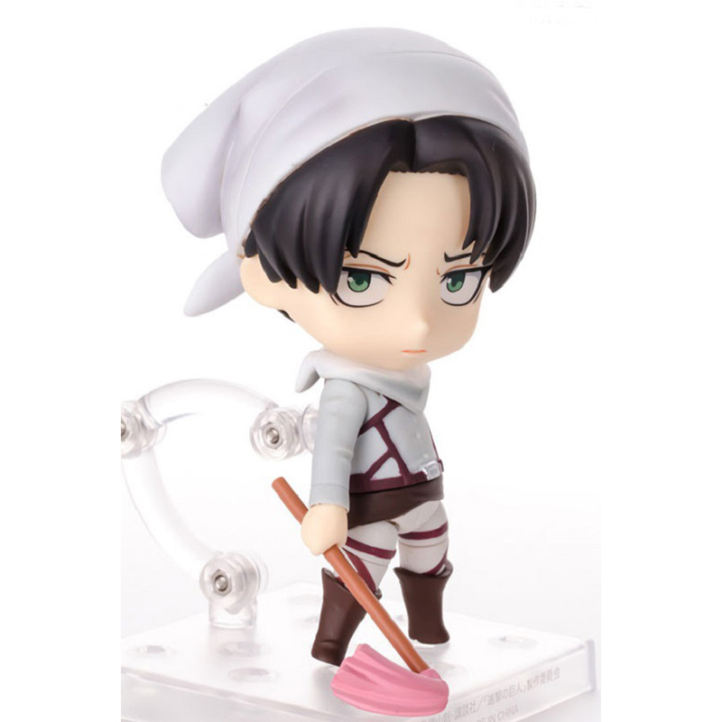 Attack on Titan Classic Collection Q Version Sweepup 10cm Levi PVC Toy Figures Rivaille Ackerman Model Action Figure JR001 attack on titan anime 17 cm mikasa ackerman battle version pvc anime figure collection doll model toy kids toys pm scene tw18