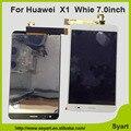 Dom gratuito screen Display Lcd de toque Digitador Assembléia 7.0 polegada Conserto LCD Cor Branca Para Huawei Honor X1 MediaPad X1