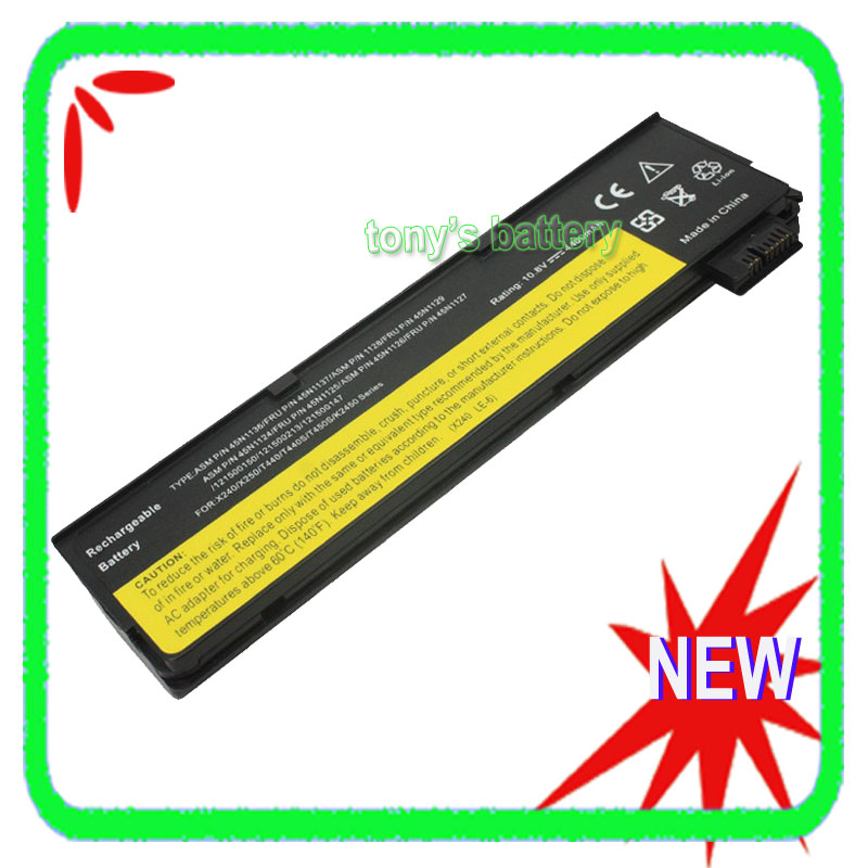 6 Cell Laptop Battery for Lenovo ThinkPad X240 X250 T440 T440s T450s K2450 45N1124 45N1125 45N1126 6 cell original laptop battery for t440s t440 x240 touch 45n1128 45n1129 10 8v 48wh
