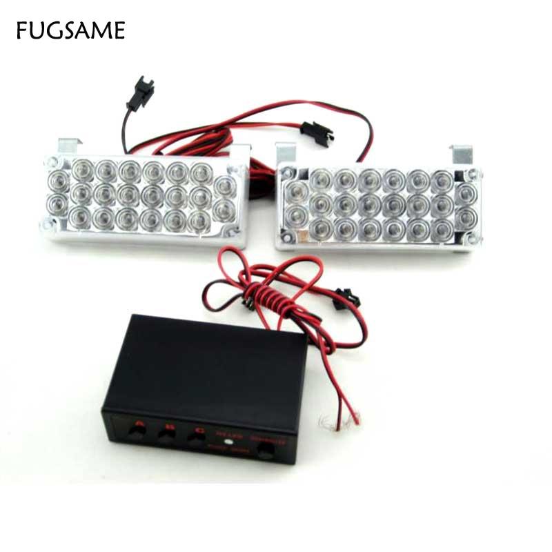 FUGSAME LED ستروب أضواء التحذير الطوارئ - أضواء السيارة