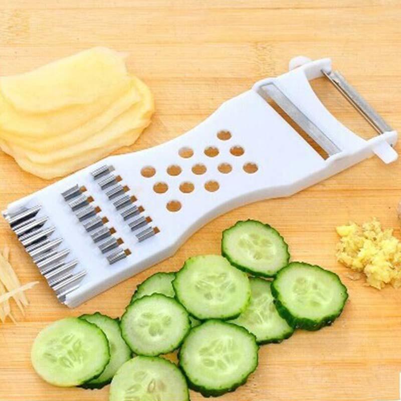 Hoomall الخيار تقطيع سلطة المطبخ التقطيع الجبن الفاكهة الجزرة القاطع مبشرة الأسرة الحديثة المطبخ أداة متعددة الوظائف