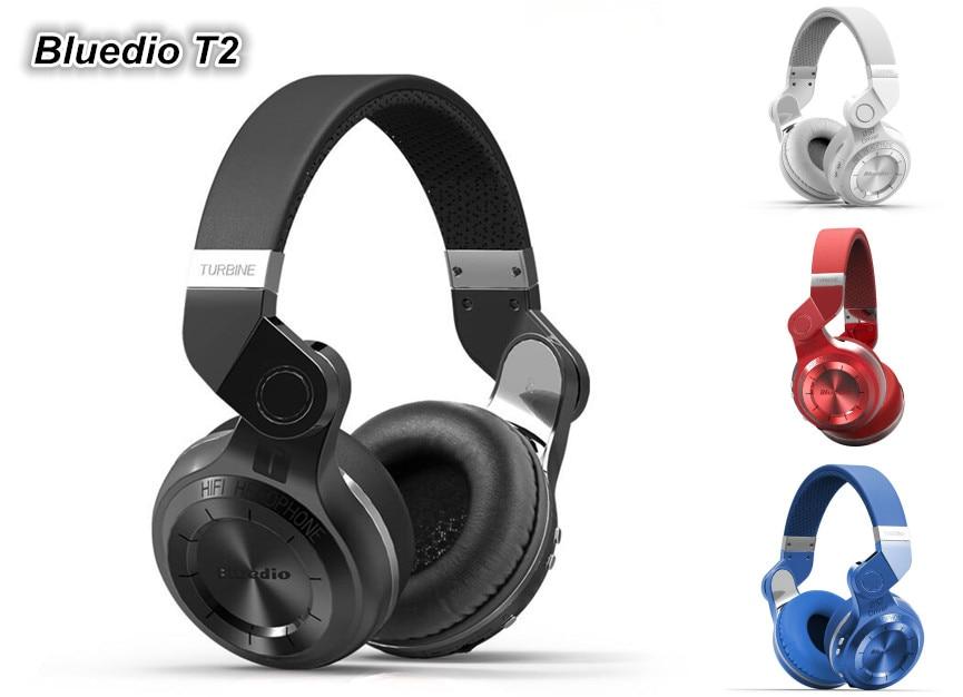ФОТО Bluedio T2 Wireless Bluetooth 4.1 Earphone Headband Bluetooth Headset Stereo Headphones Headband Headset Free shipping