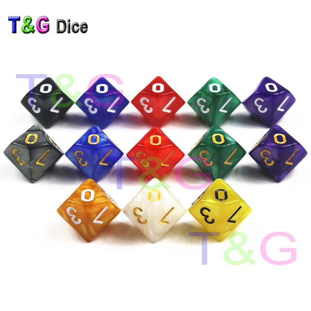10PCS D10(0-9) Dice for Rpg DnD 10 Sided Games Dices Beautiful Colors  Desktop Polyhedral Set  5d7c175f8da7