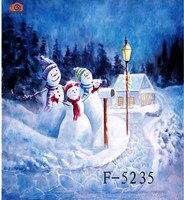 """New arrival 10 """"X 20""""/3X6 m zima śnieg Scenic tło fotograficzne  ręcznie malowane muślin zdjęcia tła boże narodzenie F5235 w Tło od Elektronika użytkowa na"""