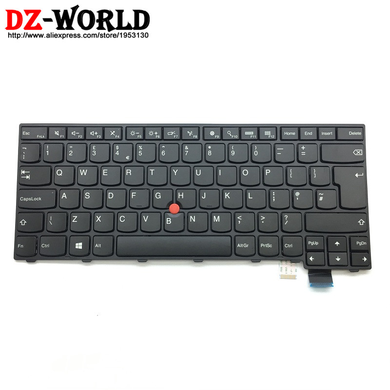 New Original for Lenovo Thinkpad T460S S2 13 S2 2nd 13 2nd UK English Keyboard Teclado Big Enter 00PA522 00PA440 neworig keyboard bezel palmrest cover lenovo thinkpad t540p w54 touchpad without fingerprint 04x5544