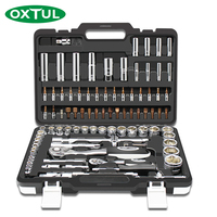 OXTUL 94PCS Professional Mechanical Auto Car Repair Tools Set Socket Wrenches Ratchet Screwdriver Household CR V Steel Hand Tool
