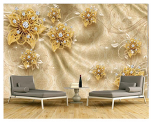 beibehang Modern thick 3d wallpaper 3D embossed gold fashion classic jewelry rose pattern TV background wall papers home decor