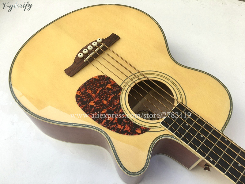 free shipping 40 electric acoustic 5 strings wood bass guitar 18 frets spruce top mahogany wood. Black Bedroom Furniture Sets. Home Design Ideas