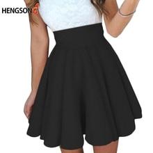 Плиссированная теннисная юбка для женщин, Всесезонная Студенческая школьная юбка, женские танцевальные юбки бальное платье, пышная короткая юбка черного цвета