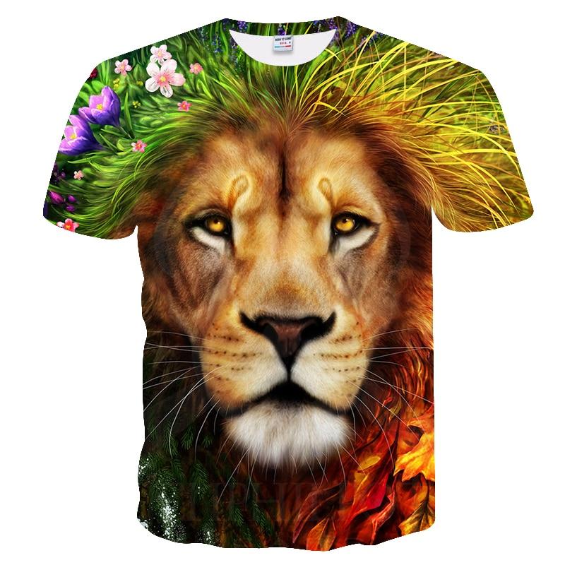 BIANYILONG 2018 New High Street Men/Women T-shirt 3d Lion Print Designed Stylish Summer T shirt Brand Tops Tees Plus Size M-5XL  2