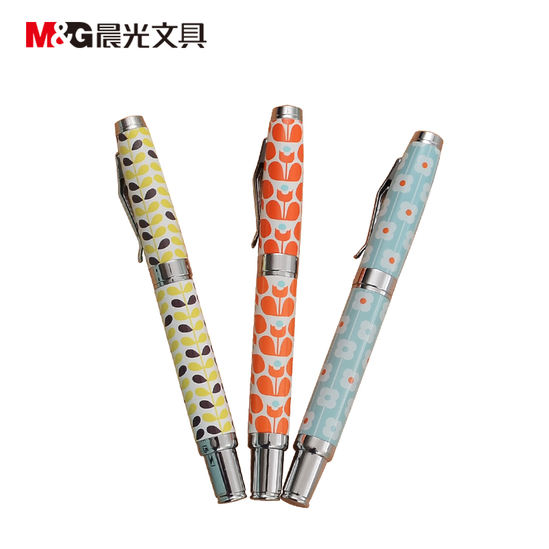 cigarette shaped ball pen black ink RollerBall pen ceramic ball 0.5 Tib M&G AGPW0901 Gel  pen  black ink office and school stationery 36 pcs Free Shipping