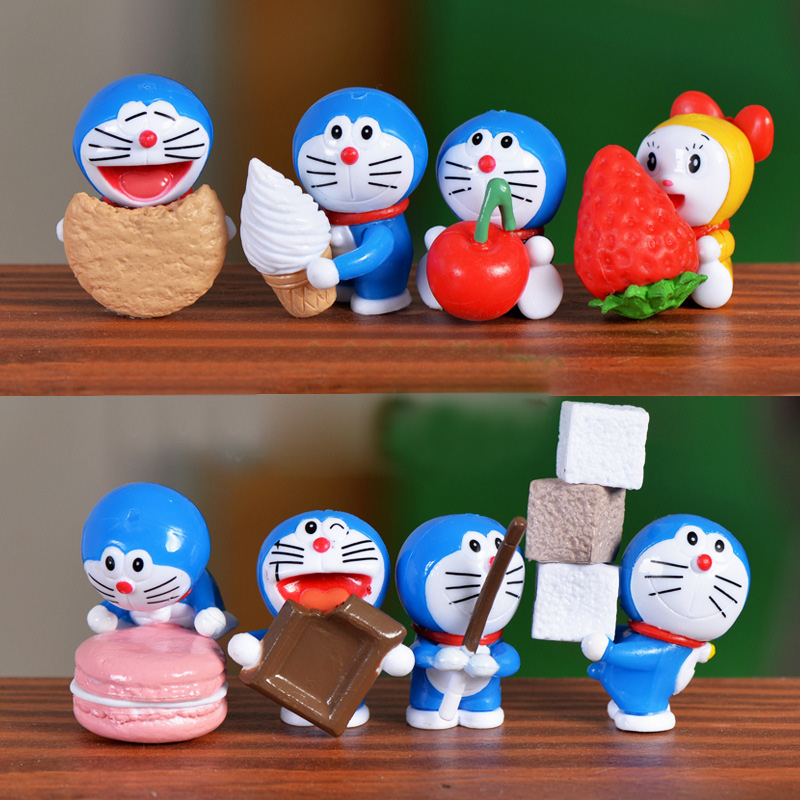 1Pcs Cartoon Fruit Doraemon DIY Resin Fairy Garden Craft Decoration Miniature Micro Gnome Terrarium Gift F0481