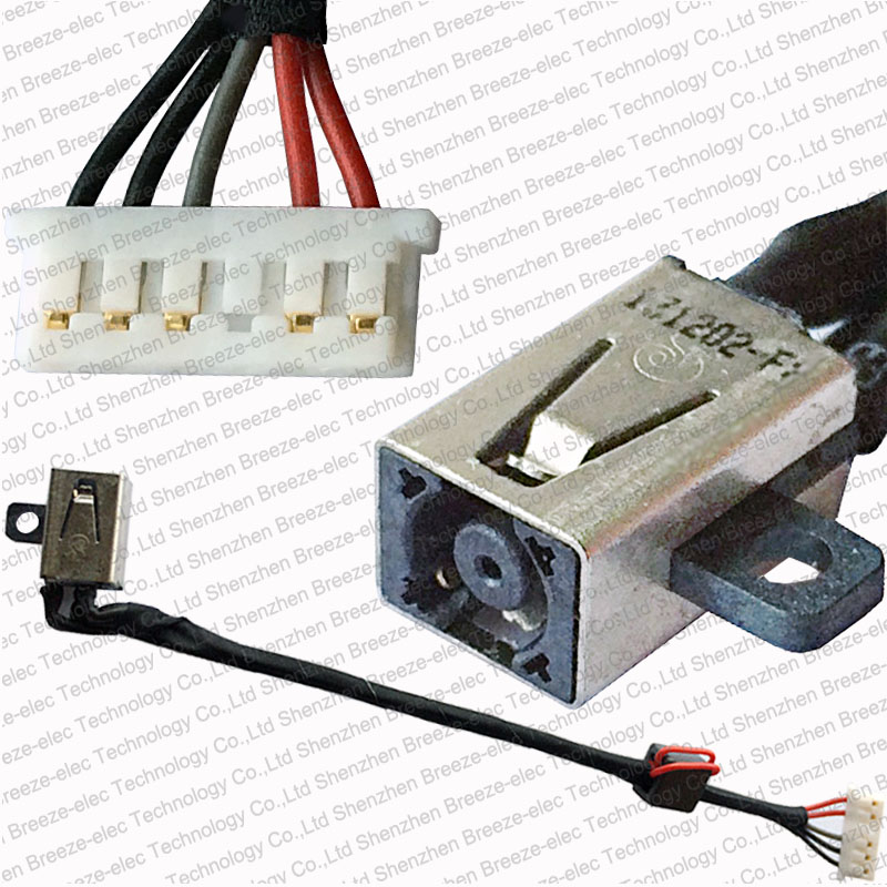 все цены на Laptop DC Power Jack socket Cable Wire connector for Dell Inspiron 15-5000 5551 5558 5555 14-5455 5458 P51F DC30100UD00 0KD4T9 онлайн