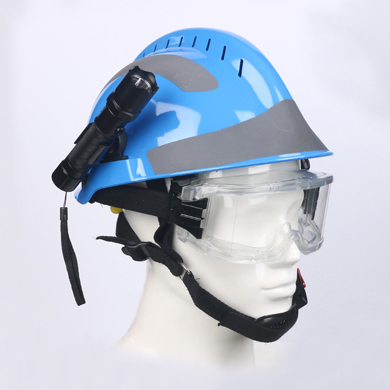 Image 3 - Safety Rescue Helmet Fire Fighter Protective Glasses Safety Helmets Workplace Fire Protection Hard Hat With Headlamp & Goggles-in Safety Helmet from Security & Protection