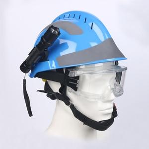 Image 3 - Veiligheid Rescue Helm Fire Fighter Beschermende Bril Veiligheid Helmen Werkplek Fire Bescherming Harde Hoed Met Koplamp & Goggles