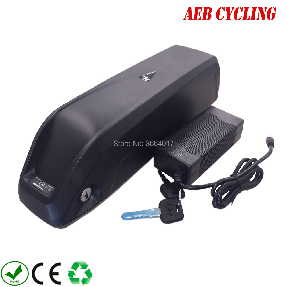 Ebike Li-ion 36V 10Ah Hailong down tube battery for fat tire bike city bike with charger hailong down tube electric bike battery 48v 14ah lithium ion ebike battery pack with capacity display charger for fat tire bike