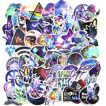 70Pcs Colorful Skull Cool Laser Star Stickers For Trolley Case Motorcycle Notebook Skateboard Cross  Dope Sticker Pack Decals