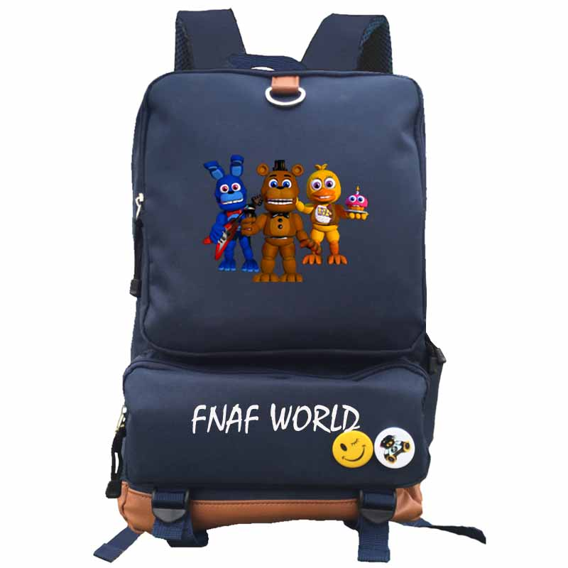 US $24 0 20% OFF|Five Nights At Freddy's Backpack fnaf world student school  bag Notebook backpack Leisure Daily backpack-in School Bags from Luggage &
