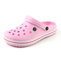 Summer Women Sandals 2017 New Croc Woman Beach Shoes Hollow Outdoor Slippers Hole Breathable Flip Flops