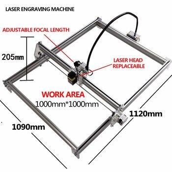 DIY 15000mw 15w big large engrave carve machine 100 * 100cm laser engraving carving machine laser printer brands advanced toys фото