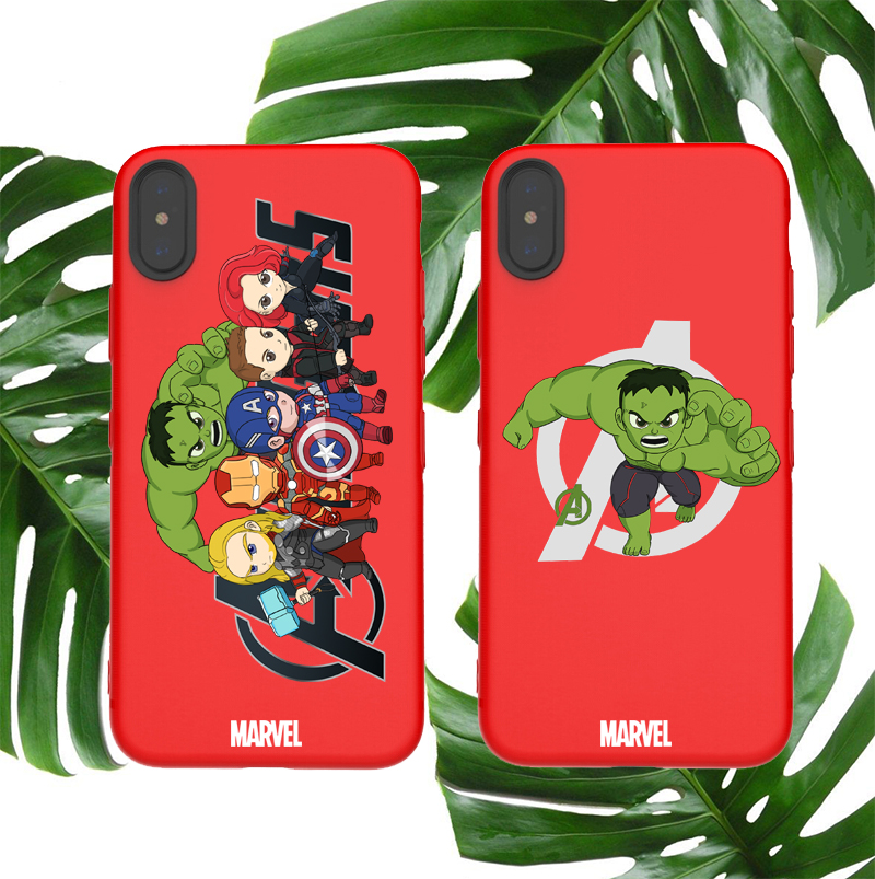 Marvel soft case for iphone X XS MAX XR 8 7 6 6S plus phone cover matte silicone Avengers Hulk Bruce Banner coque capa fundas