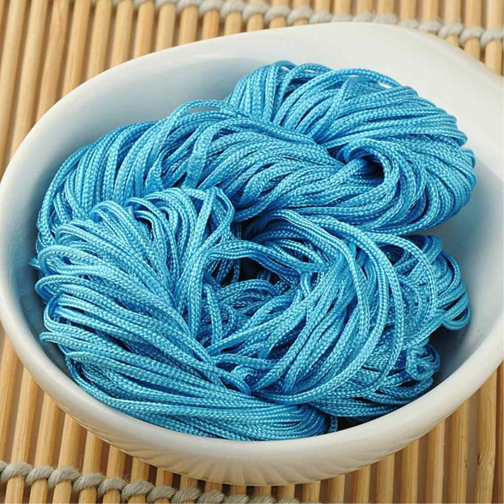 20M 1MM Cored Wire Nylon Cord color Thread Chinese Knot Macrame Rattail For DIY Bracelets Necklaces Braided Jewelry Accessories