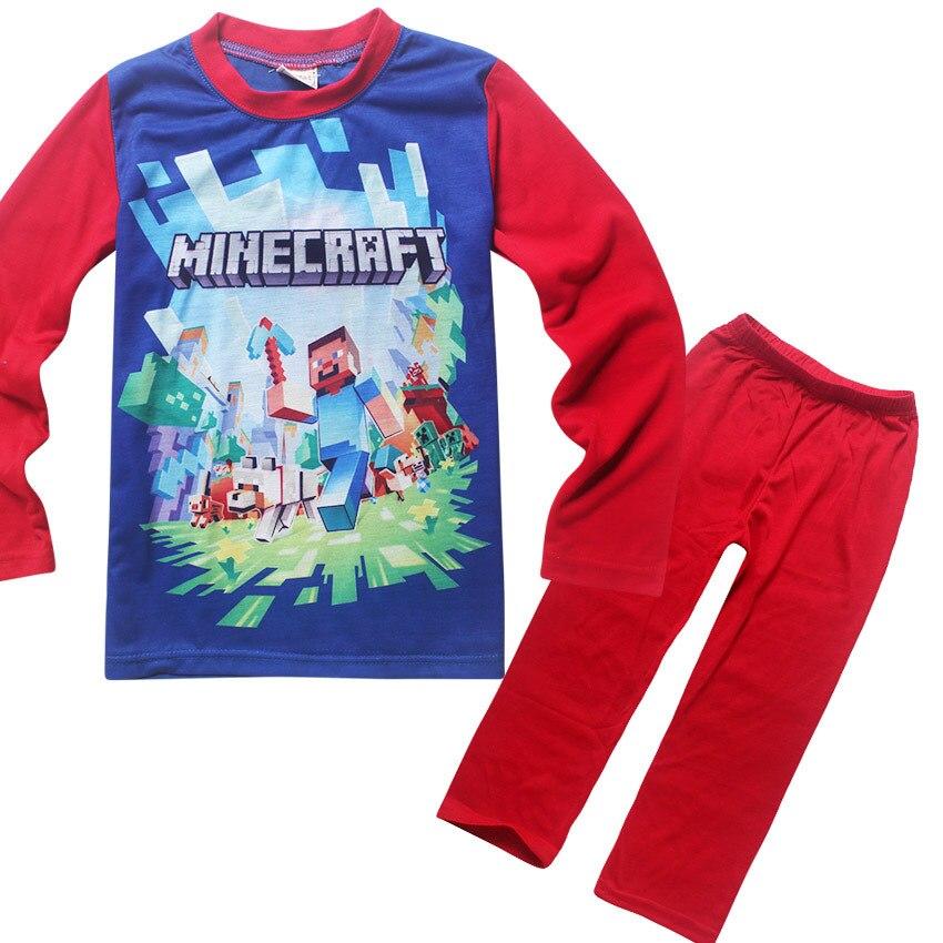 6 14 лет Детская одежда Детские пижамы для мальчиков; Детские спальные комплекты детская одежда сна малыша Розовый и красный цвет с длинными ...