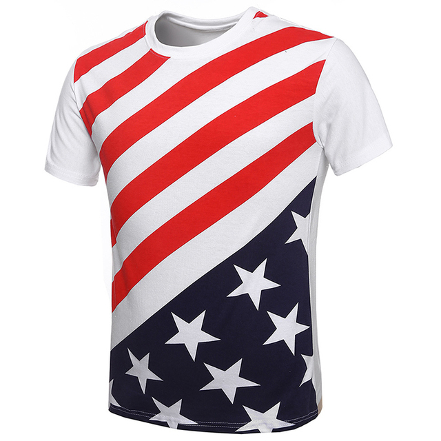fa4aa6661c7 Mens Brand USA American Flag Printed Swag Cotton T Shirts Fashion Summer  2015 Fitness Short Sleeve Plus Size Slim Fit Tee Shirts