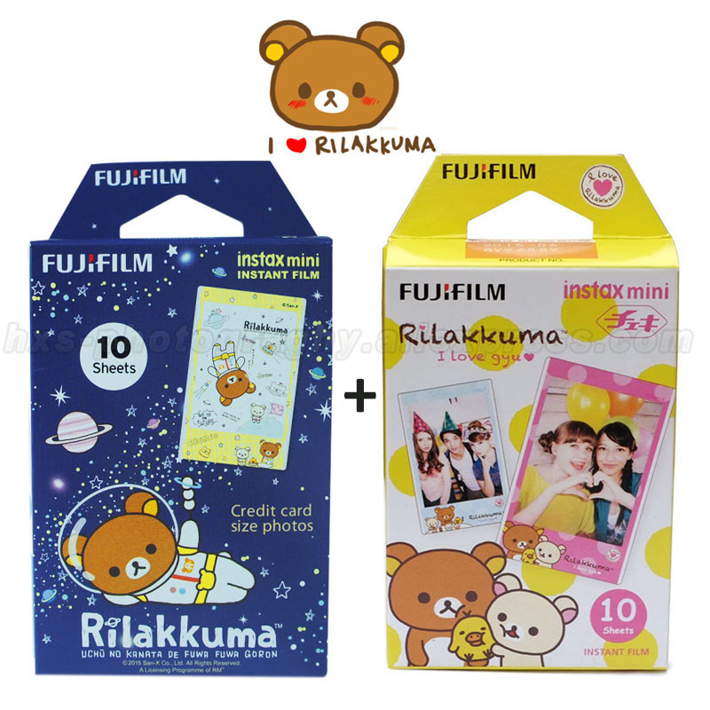 Genuine Rilakkuma 10pcs Fujifilm Instax Mini 8 9 Film Fuji Photo Paper For Mini 9 8 50s 7s 90 25 Share SP-1 SP-2 Instant Camera