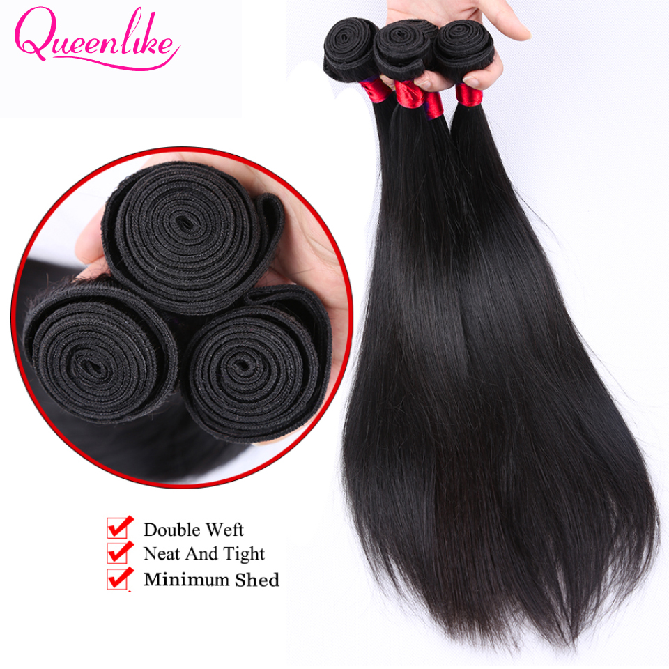 Queen Like Hair Products 1 Bundle / Piece 100% Human Hair Weave Non - Mänskligt hår (svart) - Foto 4
