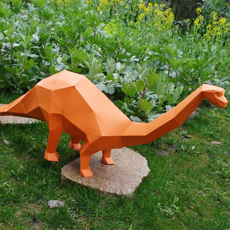 DIY 3D Jigsaw Puzzle Paper Quality Model Manual Three-dimensional Paper Model Children Beneficial Wisdom Toys- Brontosaurus(20)