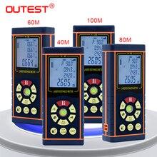 OUTEST laser distance meter range finder laser tape measure laser ruler trena tape with font b