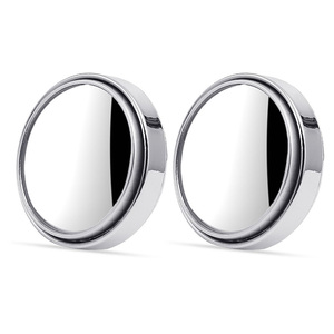 2pcs/set 360 Degree Universal Blind Spot Mirror For Car HOT Sale Frameless Ultrathin Wide Angle Round Convex Rear View Mirror(China)