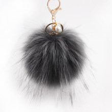 Multifunction Big Fluffy Ball Keychain Faux Raccoon Fur Key Chain Keyring  Pompoms For Women Winter Hat ed9e999919