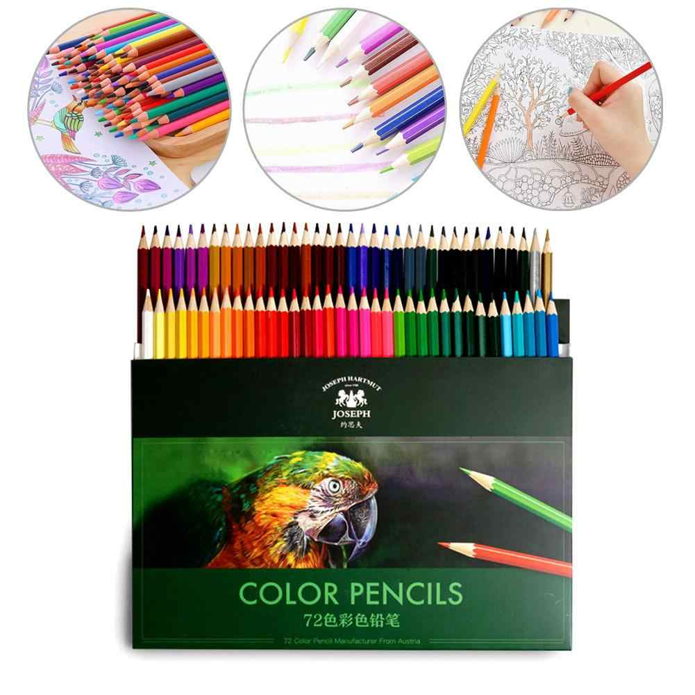 36/48/72 Colors Kids Colour Drawing Pencil Artist Drawing Sketch Art Supplies Natural Wood For Children School Painting