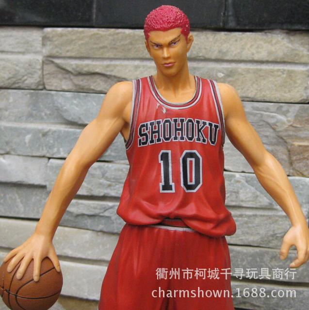 28cm Slam Dunk Sakuragi Hanamichi Action Figures PVC brinquedos Collection Figures toys for christmas gift