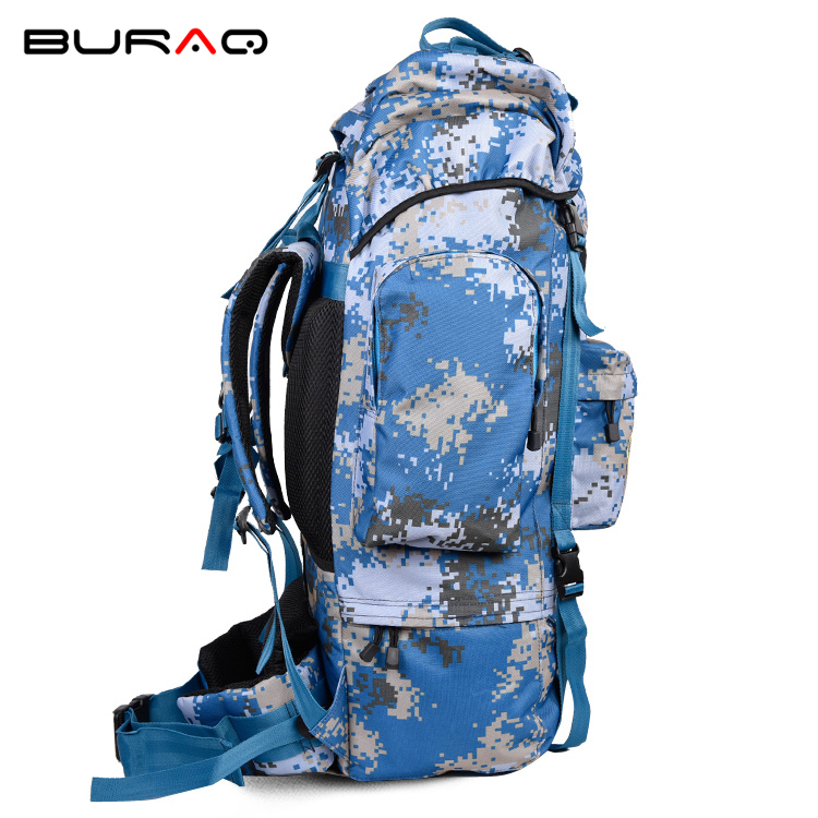 цена New Men Sports Bag Professional Mountaineering Backpack Waterproof Big Capacity 70L Outdoor Mountain Backpacks онлайн в 2017 году