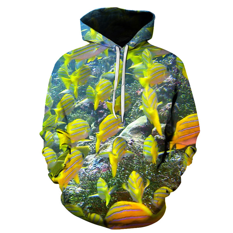 2018 New Fashion Hoodies 3D Print Fish Men Women Hooded Sweatshirt Pullovers Autumn Winter High Quality Tracksuit Hip Hop Male