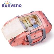 5PCS/SET SUNVENO Large Capacity Baby Nappy Bag Waterproof Diaper Bag Fashion Mother Shoulder Backpack Maternity Baby Travel Bag