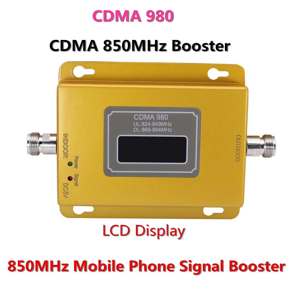 70dB CDMA980 LCD 2G 3G UMTS Ripetitore Repetidor GSM CDMA 850 MHz Segnale Del Telefono Mobile Ripetitore Del Ripetitore, amplificatore di segnale del telefono CDMA cellulare