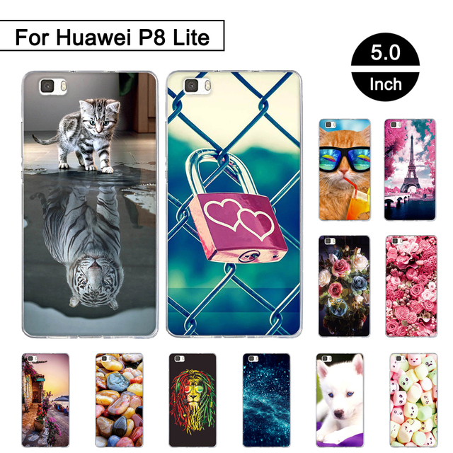 Case For Huawei P8 LITE P8lite 5.0 inch Back Soft Silicon Cover For Huawei ALE-L21 Phone Cases For Huawei Ascend P8 Lite Shells