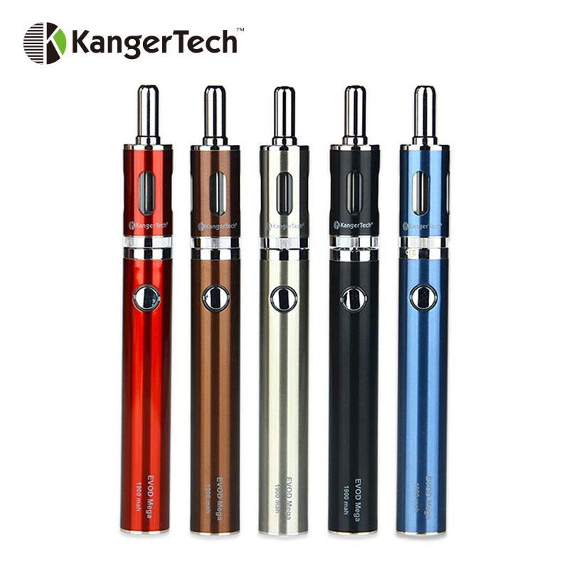 100% Originale Kangertech EVOD mega kit con 1900 mAh Kangertech kit e sigaretta Batteria con Evod Evod Mega Mega Atomizzatore 2.5 ml