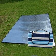 Outdoor Moistureproof Picnic Blanket Picnic Mat Camping Stripe Blanket Beach Waterproof Camping Equipment Mat