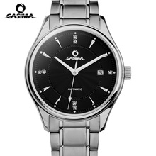 CASIMA brand Luxury automatic mechanical watches men business dress wrist watch stainless steel waterproof noctilucent  #6905