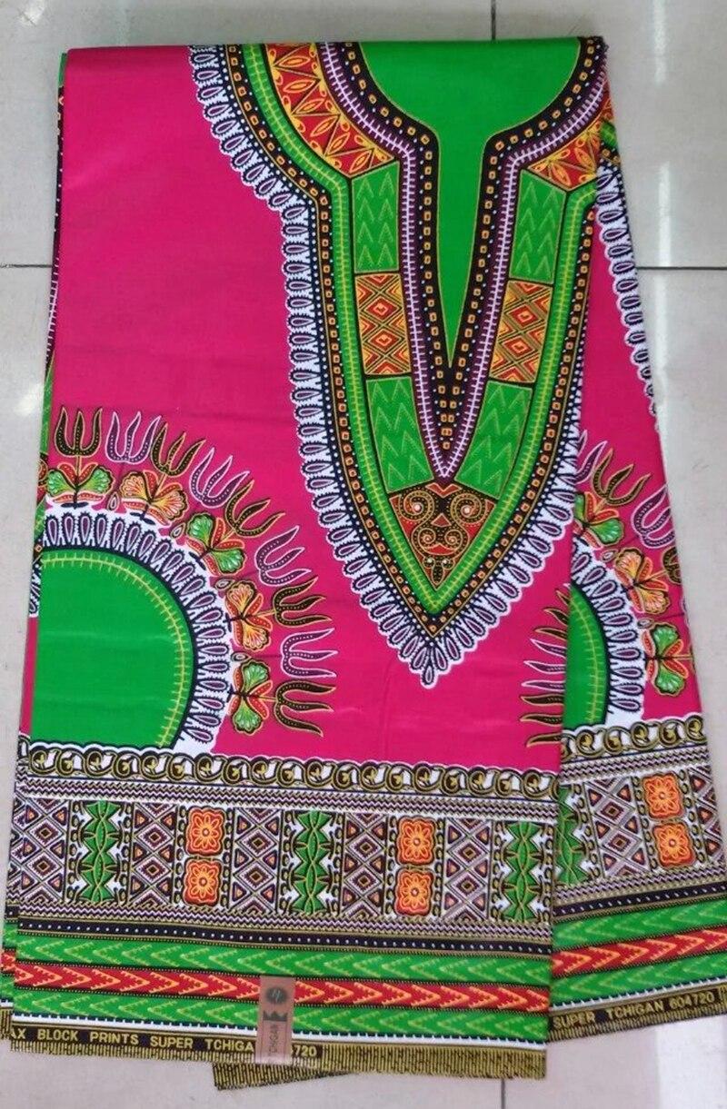 Fashion New Nigerian Dashiki African Fabric Wax Prints 100